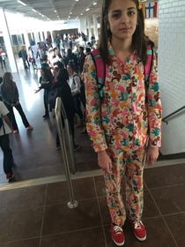 When its Pajama Day and Im the only one participating