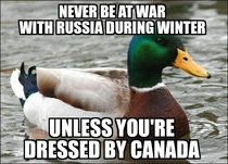 When learning that Canada is to send winter equipment to Ukraine