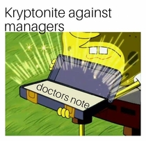 When managers try to get rid of you for calling in sick alot