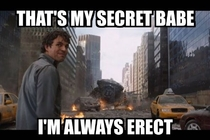 When my girlfriend asks me why Whenever she touches my crotch I have an erection