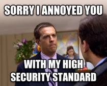 When my hoster complains about my password being too long
