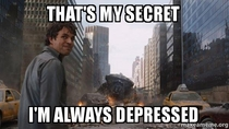 When people ask why I dont seem depressed about failing one of my classes