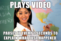 When teachers show videos