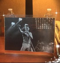 When the hotel you booked for NYE delivers your special request for a framed photo on the nightstand upon arrival Sweet dreams Freddie Heres to