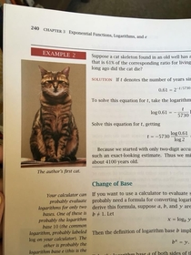 When the mathematician who wrote your textbook wants to show off his cat