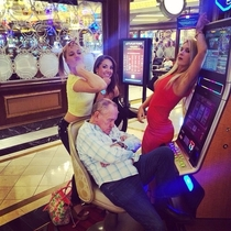 When you fall asleep at the slots in Vegas