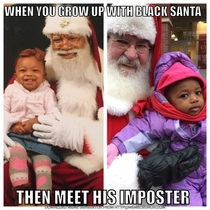 When You Grow Up With Black Santa