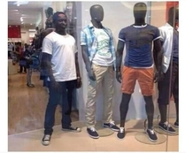 when you playing hide and seek in the Mall