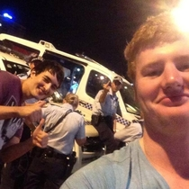 When you take a selfie with Aussie cops