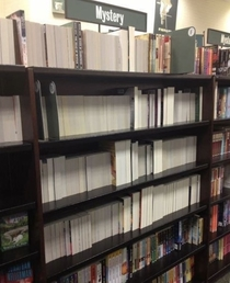 When your bookstore takes their sections literally