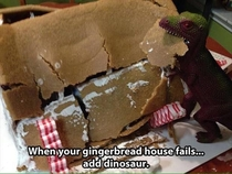 When your gingerbread house fails