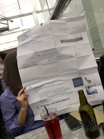 When your Printer friend is in charge of printing the boarding passes