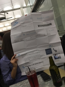 When your Printer friend is in charge of printing your boarding pass