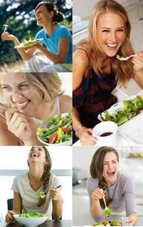 When your salad tells you a joke