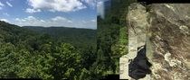 When youre trying to take a panorama of the landscape and look down to see a spider on your arm