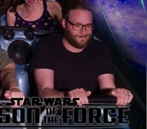 Whenever Im feeling stressed I just look at this picture of Seth Rogen riding Space Mountain and I instantly feel relaxed