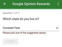 Which state do you live in