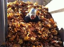 While at work earlier this drunk guy came up saying that it was his birthday and he wanted to take a picture of him in the leaves with his new helmet so he could send it to his aunt Afterwards he handed me  dollars and a chunk of hash
