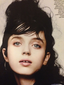 While sitting in the waiting room I found Elijah Woods female doppelgnger in TeenVogue