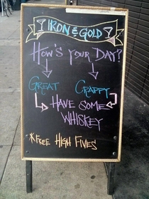 Whiskey flowchart high fives