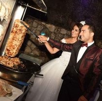 Who needs a wedding cake when theres shawarma