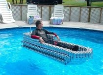 Who wants a ride in the beer boat