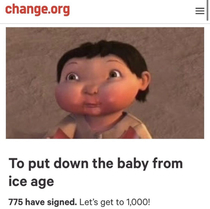 Who wants to put down the ice age baby for good