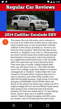 Why Cadillac Escalade exists