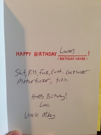 Why do we even give birthday cards to  year olds that cant read