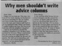 Why guys shouldnt write advice columns
