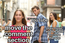 Why move comment section YouTube