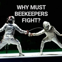 Why must beekeepers fight