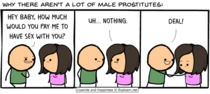 Why there arent many male prostitutes