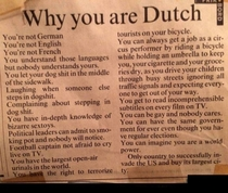 Why you are Dutch