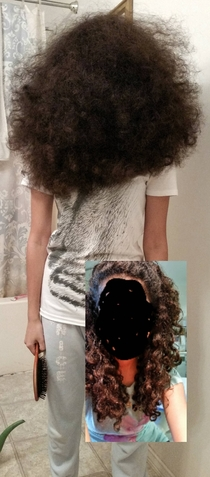 Why you NEVER brush curly hair