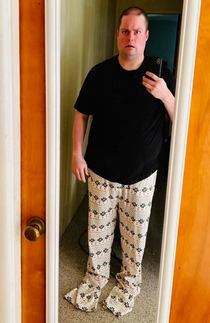 Wife bought me work from home pajamas She thinks Im taller than actually I am