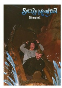 Wife didnt know Splash Mountain had a drop at the end