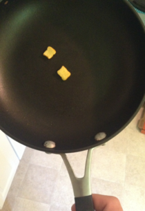 Wife left a note saying she left some french toast in the pan for me Was disappointed