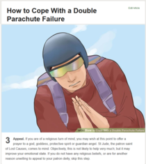 WikiHow helping with double parachute failure