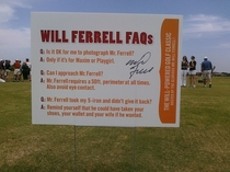 Will Ferrell Charity Golf rules