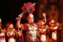 Will Ferrell leading the USC Marching Band x-post from rCFB