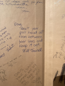 Will Ferrells advice to my father in his junior high yearbook They went to school together