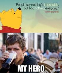 Winnie the Pooh knows whats up