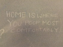Wise words from a stall
