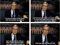 Wise words from Mr Rogers
