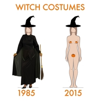Witch Costume - Then and Now