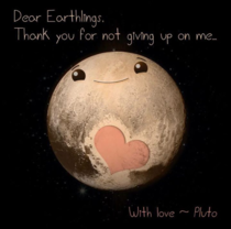 With love from Pluto
