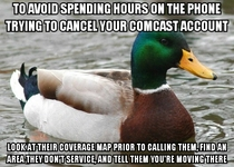 With ridiculously long Comcast cancelation calls back on the news I offer this simple solution that just might work and get you off the phone with them quickly