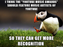 With the YouTube Music Awards featuring people like Lady Gaga