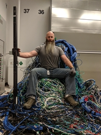 Wizard of the internet King of the data centers Slayer of cables